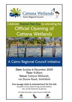 Cairns Regional Council Tropical Tree Day flyer © Cairns Regional Council