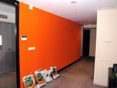 Before Shot Blank Orange Wall Corridor © Planet Ark